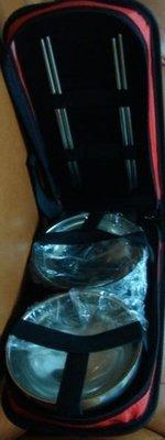 日月光紀念品  不銹鋼長型餐袋組(內附二碗+二雙筷子)