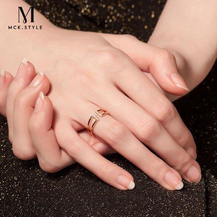 食指戒指女金色日韓大氣潮人復古學生情侶歐美開口情人節指環