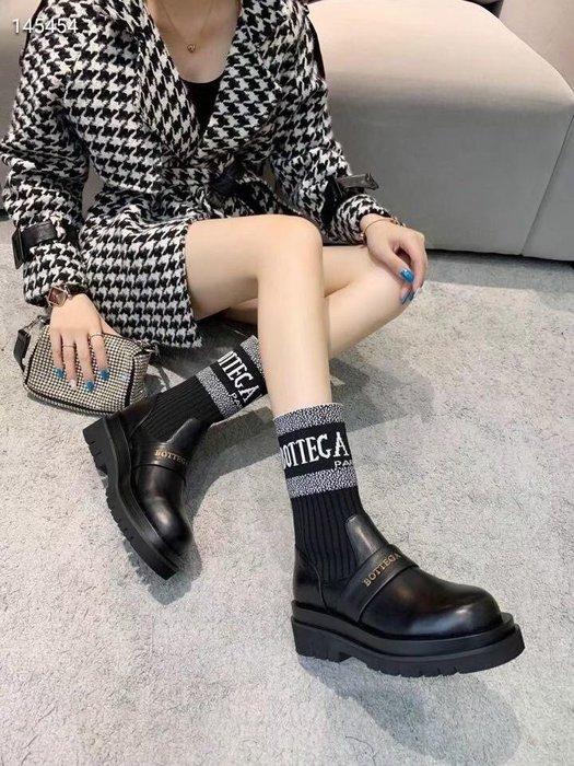 BV 葆碟家   2020毛線中筒靴 鬆糕厚底短靴 35-40碼女鞋