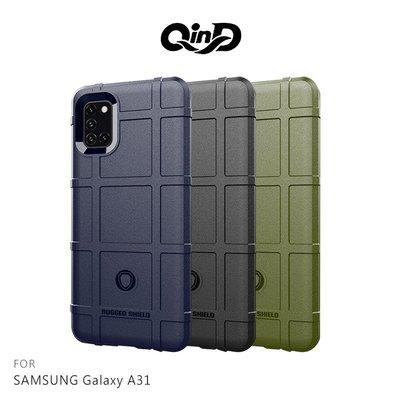 強尼拍賣~QinD SAMSUNG Galaxy A31 戰術護盾保護套  鏡頭加高 保護套 手機殼