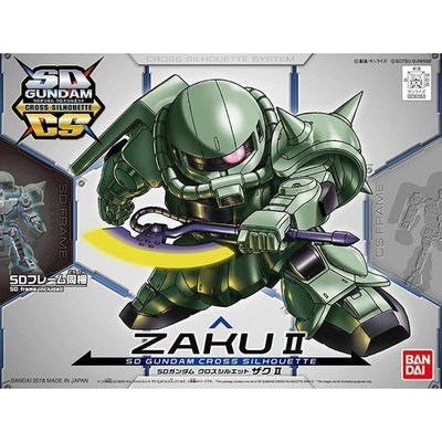 地球聯邦 - BANDAI  BB戰士 SD鋼彈 SDCS CROSS SILHOUETTE系列 薩克 ZAKU Ⅱ