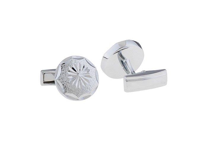 ☆TA精品☆ 男士精品-袖扣 商務款 電鍍白鋼 袖扣123406