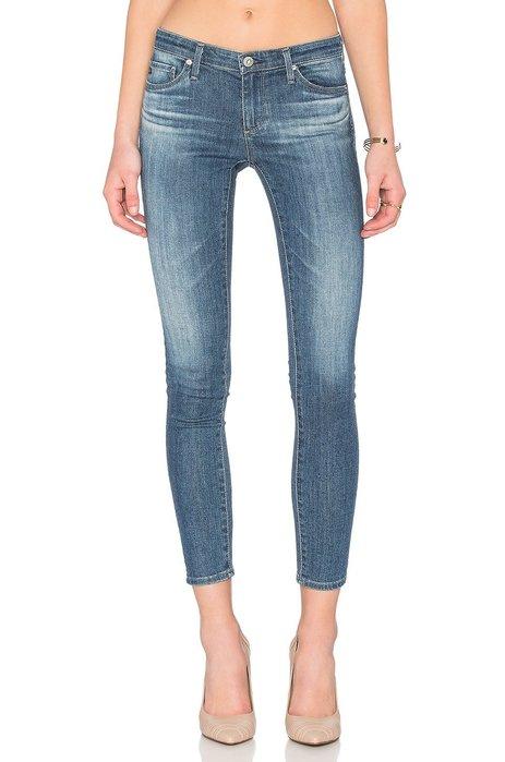 ◎美國代買◎AG legging ankle 復古藍大腿與臀線刷色合身顯廋紋七分款牛仔褲~歐美街風