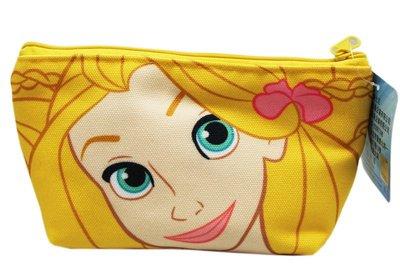 【卡漫迷】 長髮公主 梯型 化妝包 塗鴉風 ㊣版 帆布 鉛筆盒 收納袋 萬用包 鉛筆袋 拉鍊式 rapunzel