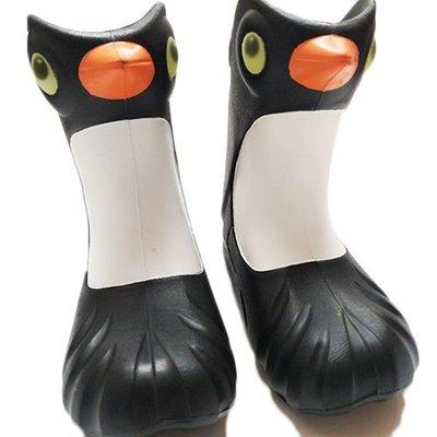 *現貨可超取含運*  Polliwalks童鞋 Penguin企鵝-兒童雨靴~ (8號黑色) 輕微瑕疪