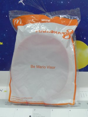 [麥當勞McDonalds] 2015 Mario Kart 8系列 Be Mario Visor未拆袋玩具 包郵