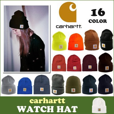 【Admonish】Carhartt A18 Acrylic Watch Hat 防寒冷 反摺 素色 毛帽 現貨 20色