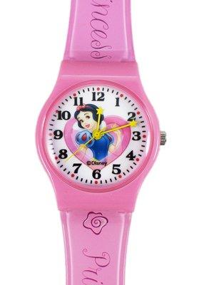【卡漫迷】 白雪公主 愛心 塑膠錶 L ㊣版 Snow White 手錶 兒童錶 女錶 卡通錶 造型錶 迪士尼