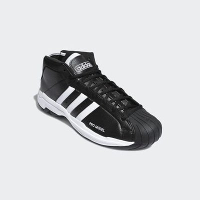 ADIDAS PRO MODEL 2G 黑色 黑白 皮革 愛迪達 實戰 籃球鞋 白 FW4344 黑 FW3670