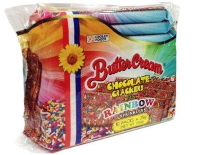 菲律賓CroleyFoodsButter Cream crackers rainbow彩虹巧克力餅乾/1包/25x10g