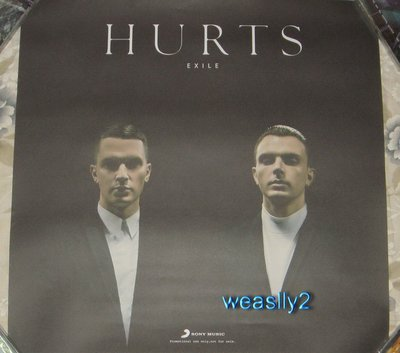 傷痛樂團 Hurts Exile 2013 【原版宣傳海報】全新!免競標
