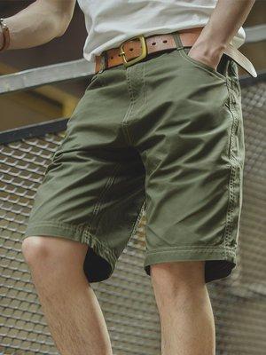 拓荒者革製所。美式軍事風復古中腰直筒軍綠五分褲阿美咔嘰多口袋休閒中褲男
