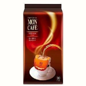 【日本進口】Mon Cafe濾泡式,濾杯式,掛耳式咖啡,摩卡口味10袋入 $220