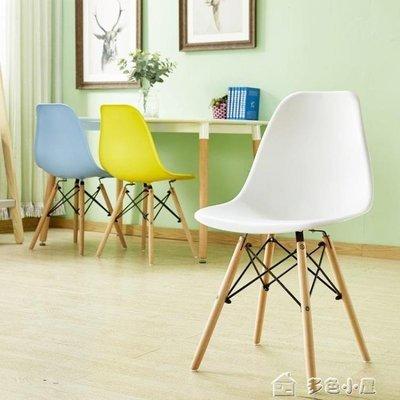 ZIHOPE 椅子現代簡約懶人書桌凳子靠背椅家用化妝椅北歐餐椅ZI812
