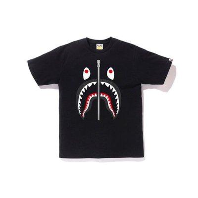 A bathing ape bape shark tee 黑色 鯊魚 短T