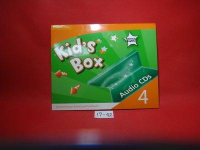 【愛悅二手書坊 17-42】Kid's Box AUDIO LEVER 4 劍橋英語 (華泰文化總代理) 4片CD