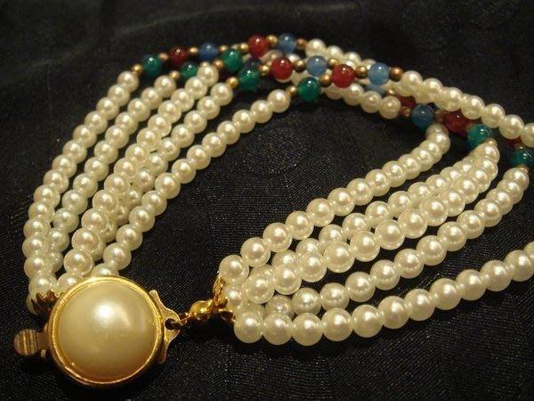 賣家珍藏,全新人造珠手鍊,賣場另有同款項鍊,無底價!免運費!