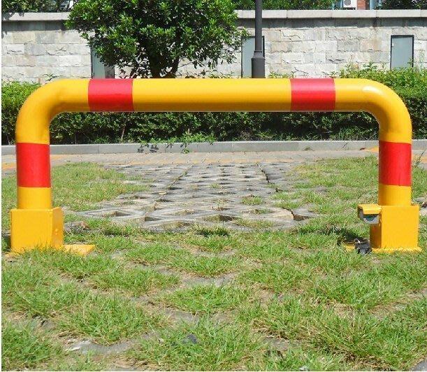 【優上精品】A型車位鎖地鎖停車位鎖汽車停車鎖加厚三角占位器防撞  汽車百貨(Z-P3105)