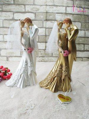 ☆[Hankaro]☆ 婚慶系列商品新郎新娘精緻浪漫婚禮喜結良緣人型擺飾新婚禮品