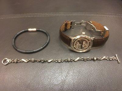 (S&C) Justin Davis DOUBLE CROSS Bracelet經典手鍊 卷軸 骷髏 皇冠 十字架 中古