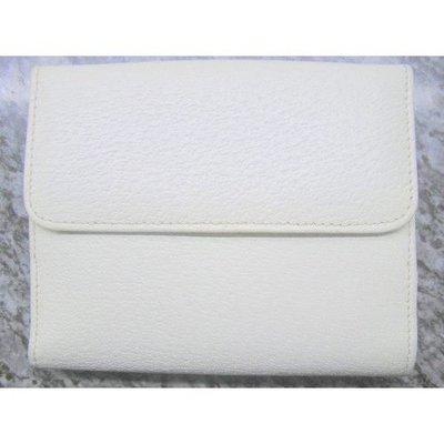 95%新「Gucci」真貨Leather真皮 米白色 銀包 錢包Wallet Purse高貴唔誇張,有散紙位 (原價 $4,380) 意大利 Italy