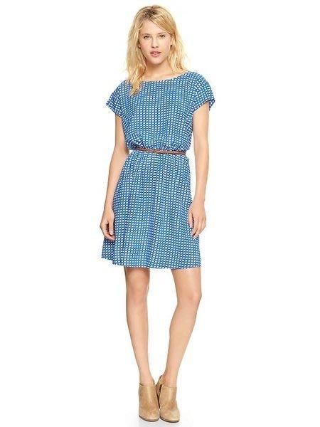 【BJGO】GAP_女裝_Printed short-sleeve dress 幾何印花洋裝新品現貨XS