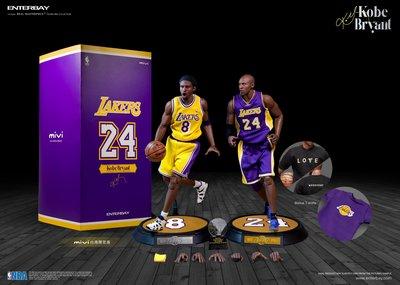《瘋樂模玩》付尾款賣場 它人勿下 再版enterbay 永遠NBA巨星 Kobe 3.0(台灣升級限量版:贈送專屬T-shirt)
