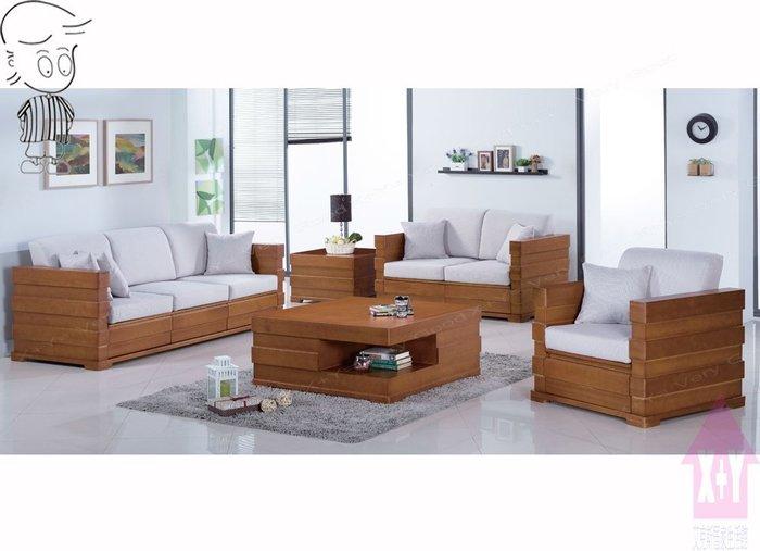 【X+Y時尚精品傢俱】現代沙發組椅系列-羅伊 柚木色組椅(1+2+3)不含茶几.含坐墊.可拆賣.摩登家具