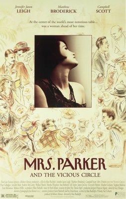 派克夫人的情人-Mrs. Parker and the Vicious Circle(1994)(國際版)原版電影海報