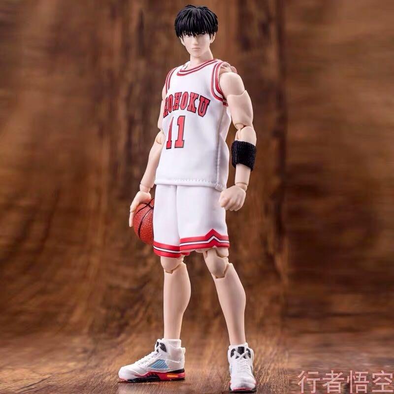 大聖模型GT灌籃高手流川楓籃球明星可動人偶手辦兵人shf白色球衣