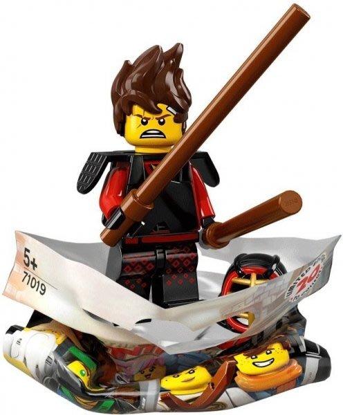 現貨【LEGO 樂高】積木/ Minifigures人偶包系列: 忍者電影 71019   #1 劍道裝赤地 KAI