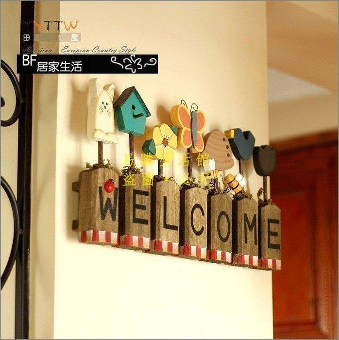 [王哥廠家直销]welcome 歡迎牌 花草 吊飾 掛飾 園藝 擺飾 傢飾 家飾 迎賓牌 民宿店面佈置 攝影道具 裝潢 室