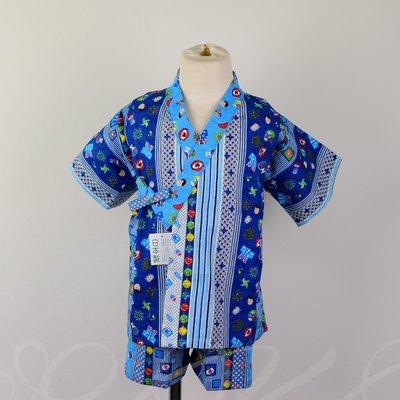 日本童裝 日本製 祭典 竹節綿 浴衣/ 甚平/兒童和服#90#95#100#110#120 空運~小太陽日本精品