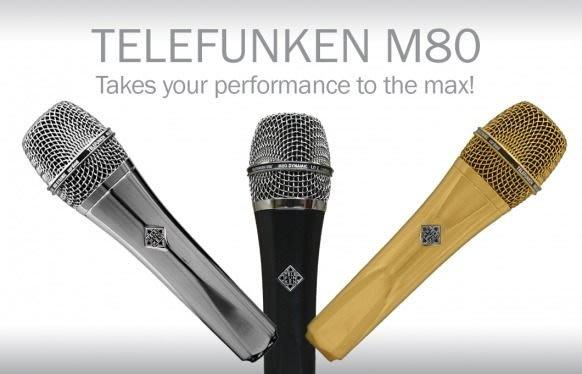 造韻樂器音響- JU-MUSIC - 德律風根Telefunken M80 Chrome 極度美型 絕對好聲 另有 Sennheiser