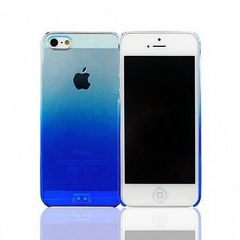 【宇浩電通】Lilycoco iPhone 5 5S SE 亮面 透明 漸層 保護殼 藍色 現貨 安心亞