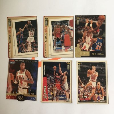 NBA球員卡 Michael Jordan Scottie Pippen Steve Kerr 喬丹 皮朋 柯爾