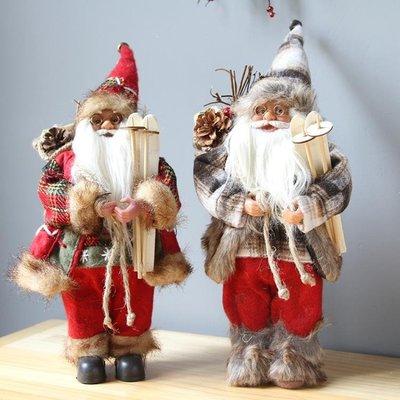 聖誕節歐式桌面迷你聖誕樹老人雪人公仔擺件布置裝飾品道具
