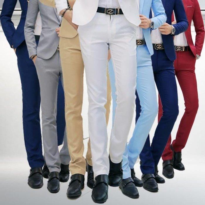 男士職業裝西褲男修身歐版商務西服褲子正裝青年韓版上班黑色男褲