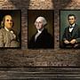 名人裝飾畫偉人肖像早教勵志海報定制美國總...