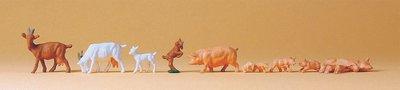 傑仲 (有發票) 博蘭 公司貨 Preiser 動物組 Goats,pigs 13 14162 HO