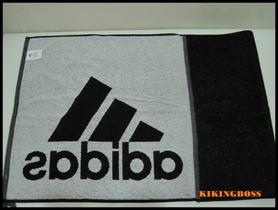 【喬治城】ADIDAS 黑白色 雙面 游泳 健身 跑步 吸汗 純棉 訓練 配件 運動 毛巾 DH2860正品公司貨 苗栗縣