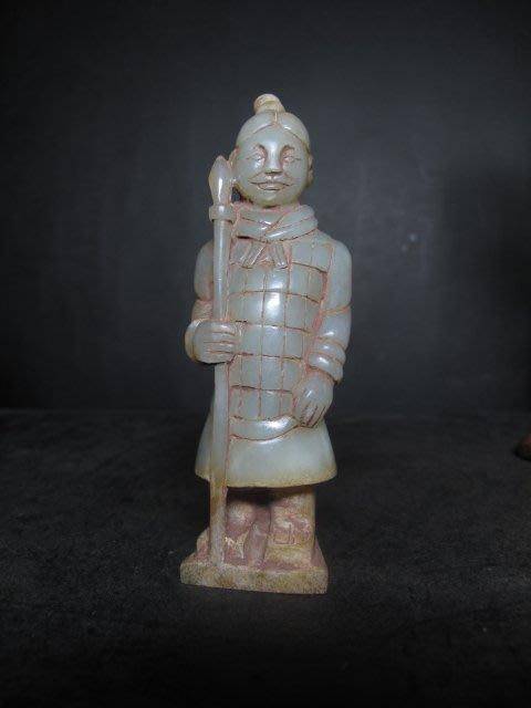 和闐玉雕◎   兵馬俑 立像