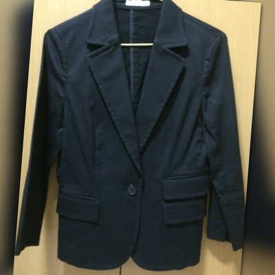 OFUON 休閒 上班 西裝 基本款外套 正黑色 特價中