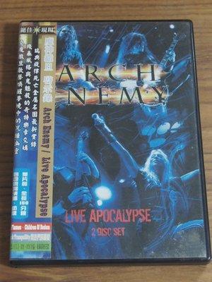 MWM◎【二手DVD】Arch Enemy- Live Apocalypse 附一海報, 有細紋