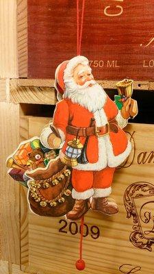 搖鈴聖誕老公公拉繩木偶:聖誕節 老公公 拉繩木偶 收藏 手工 家飾 居家 吊飾 玩偶 設計 禮品