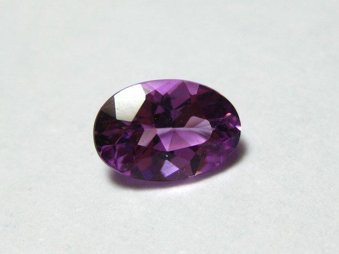 【Texture & Nobleness 低調與奢華】天然無處理 高品質AAA 濃郁紫 摩根石 -0.4克拉