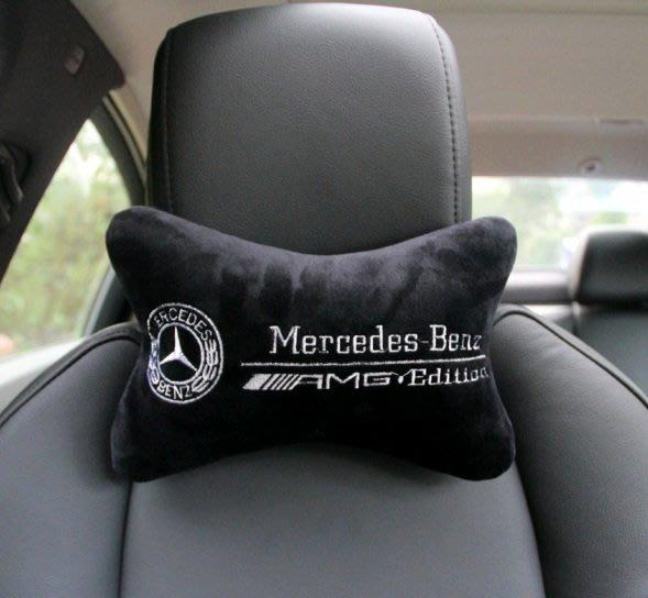 賓士頭枕 BENZ 進口 車內飾品 C-CLASS 豪華轎車 GLC SLA 汽車用品 SL
