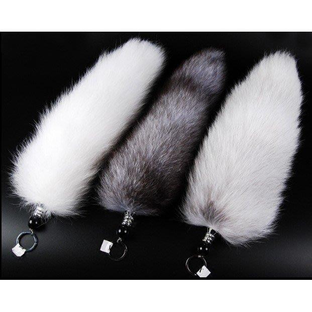 狐狸尾巴挂件進口超大真毛特價包包挂件掛飾飾品汽車鑰匙皮草