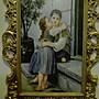 銅框 手繪 磁板畫 c 3萬