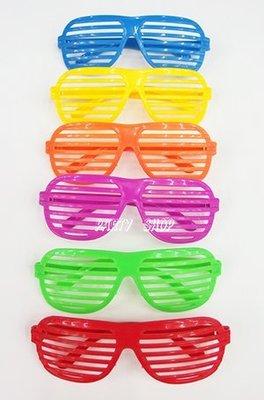 J93【派對樂】萬聖節派對/聖誕服裝,角色扮演,變裝搞笑裝扮_彩色百葉窗眼鏡